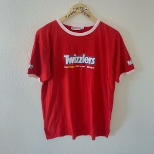++ [vintage] • red twizzlers ringer t-shirt ++